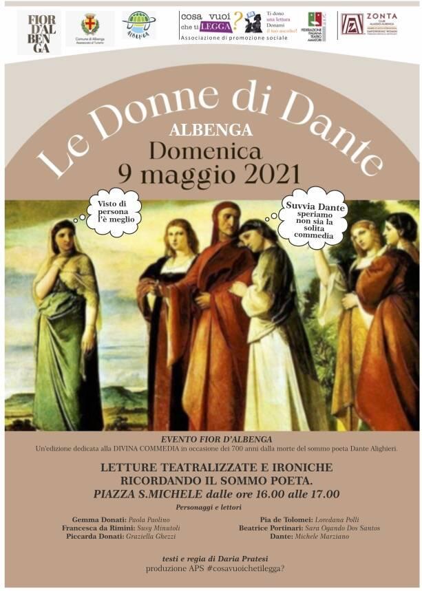 """Albenga """"Le donne di Dante"""" lettura teatralizzata"""