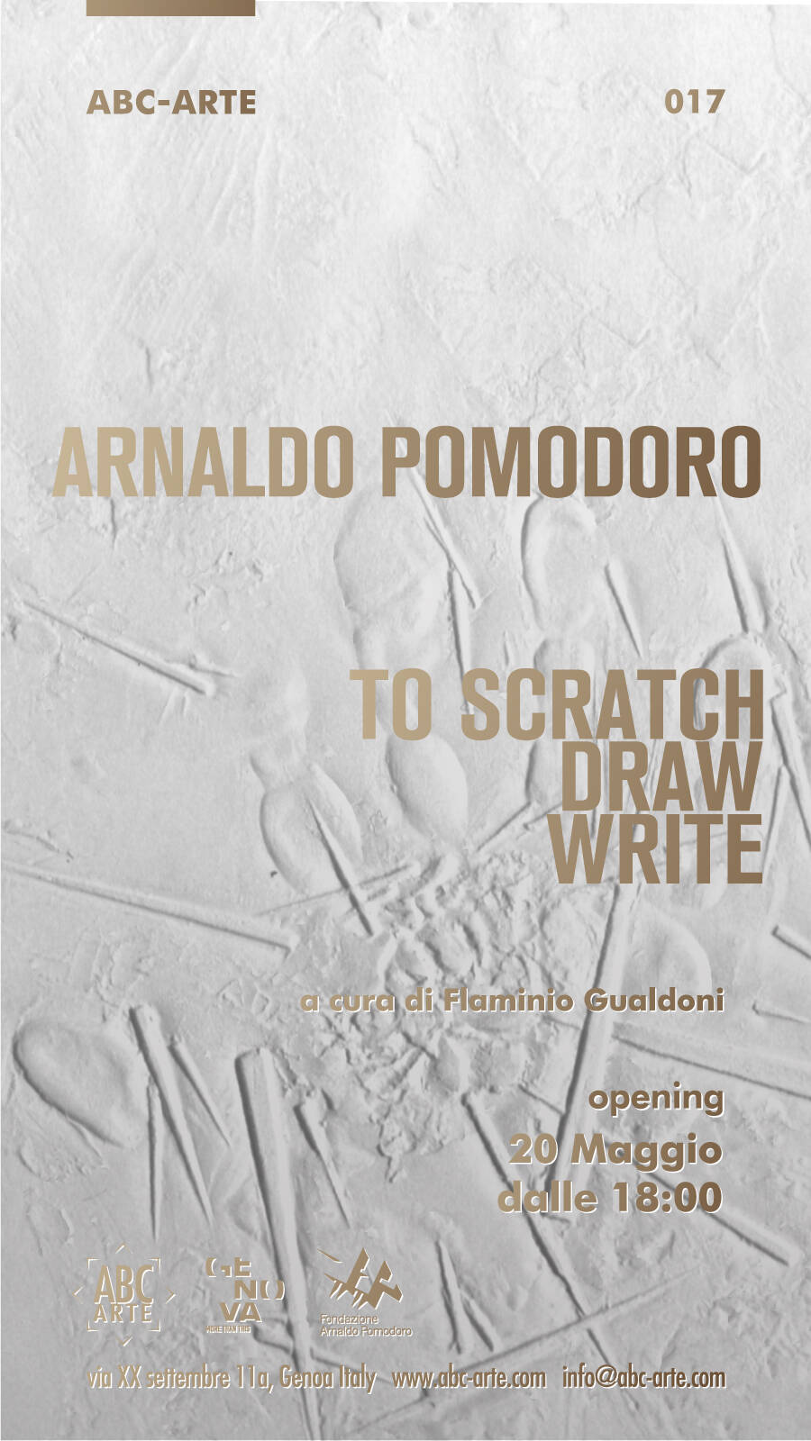 Arnaldo Pomodoro. To scratch, draw, write