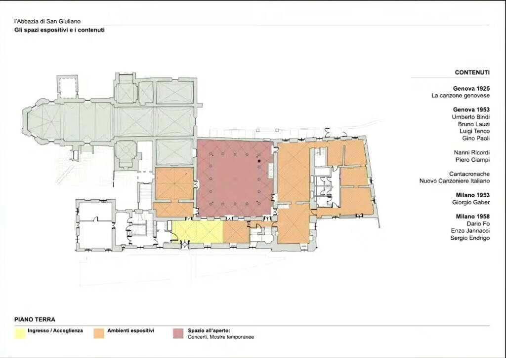 Ecco come sarà la Casa dei Cantautori nell'abbazia di San Giuliano: il progetto