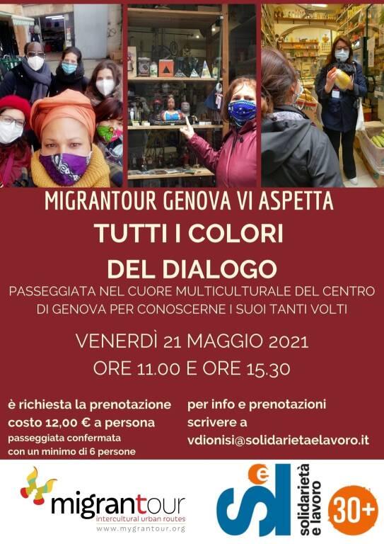 """Genova """"Tutti i colori del dialogo"""" passeggiata multiculturale centro storico"""