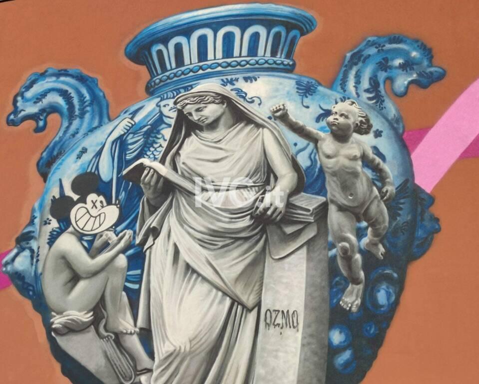 L'inaugurazione del murales di Ozmo ad Albisola