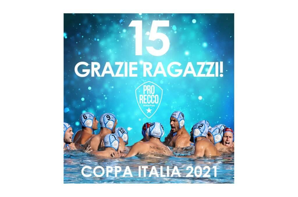 la Pro Recco resiste e conquista la Coppa Italia