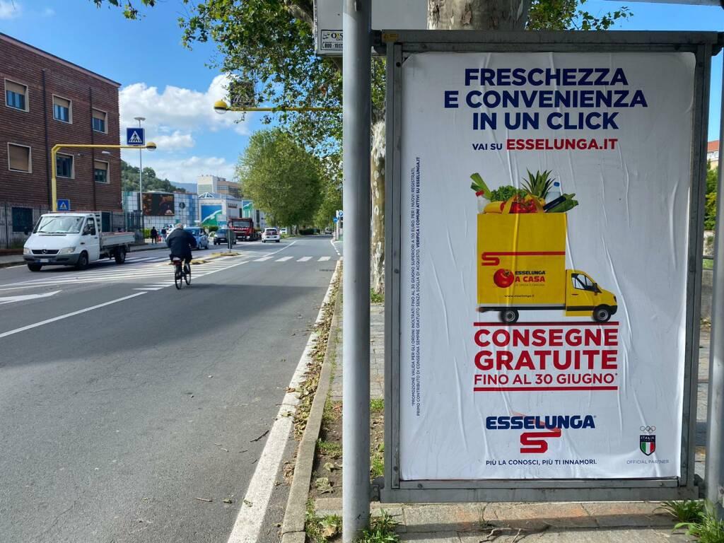 manifesti Esselunga Savona corso Ricci