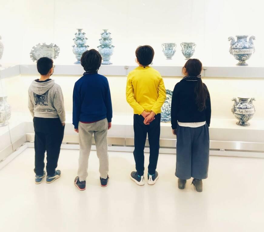 Savona Museo Ceramica bambini visitatori