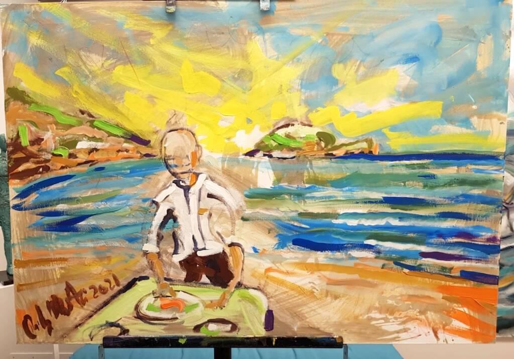 """Alassio """"L'arte in cucina"""" mostra quadri Rudy Mascheretti"""