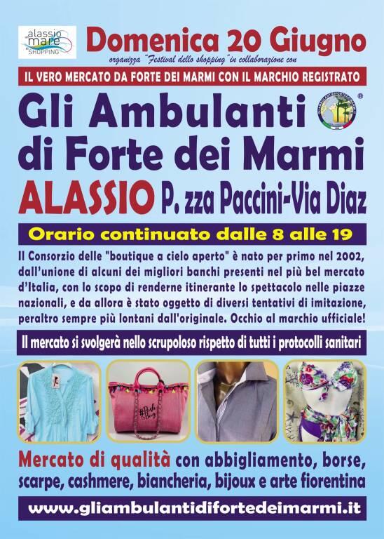 Alassio mercato Gli Ambulanti di Forte dei Marmi giugno 2021