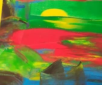 Albenga mostra d'arte astratta bambini scuola infanzia Zuccarello