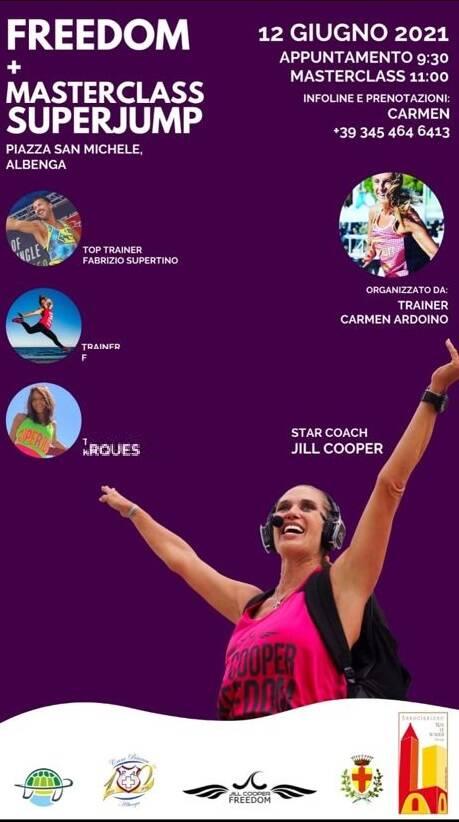 Albenga SuperJump 2021 personal trainer Jill Cooper