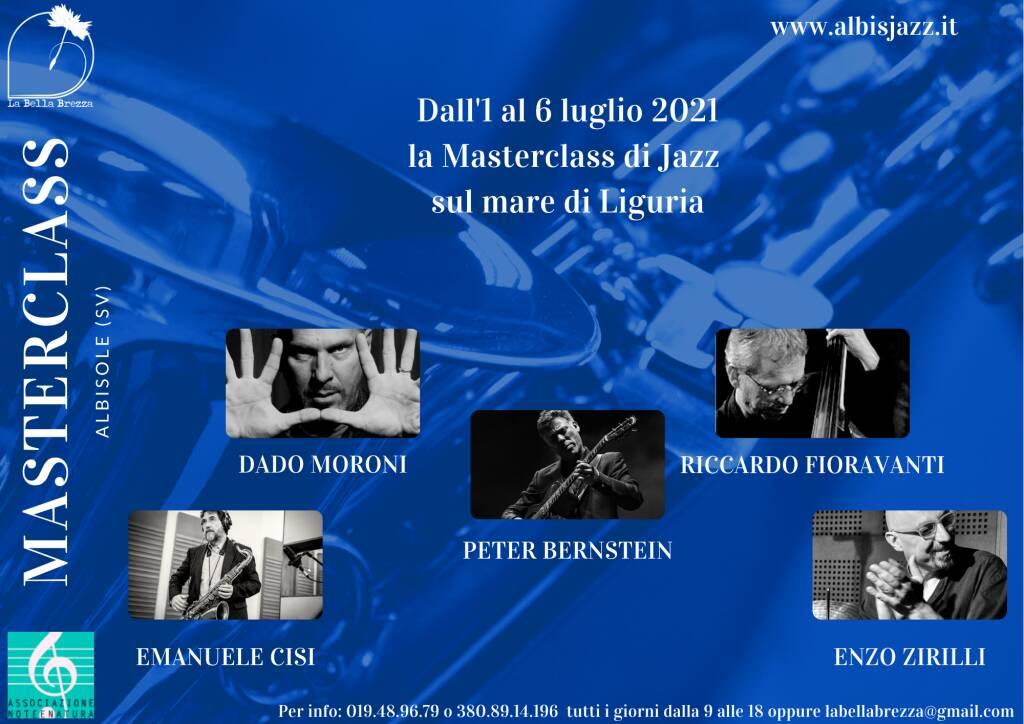 """""""AlbIsJazz"""" 2021 masterclass concerti Albissola Marina Albisola Superiore"""