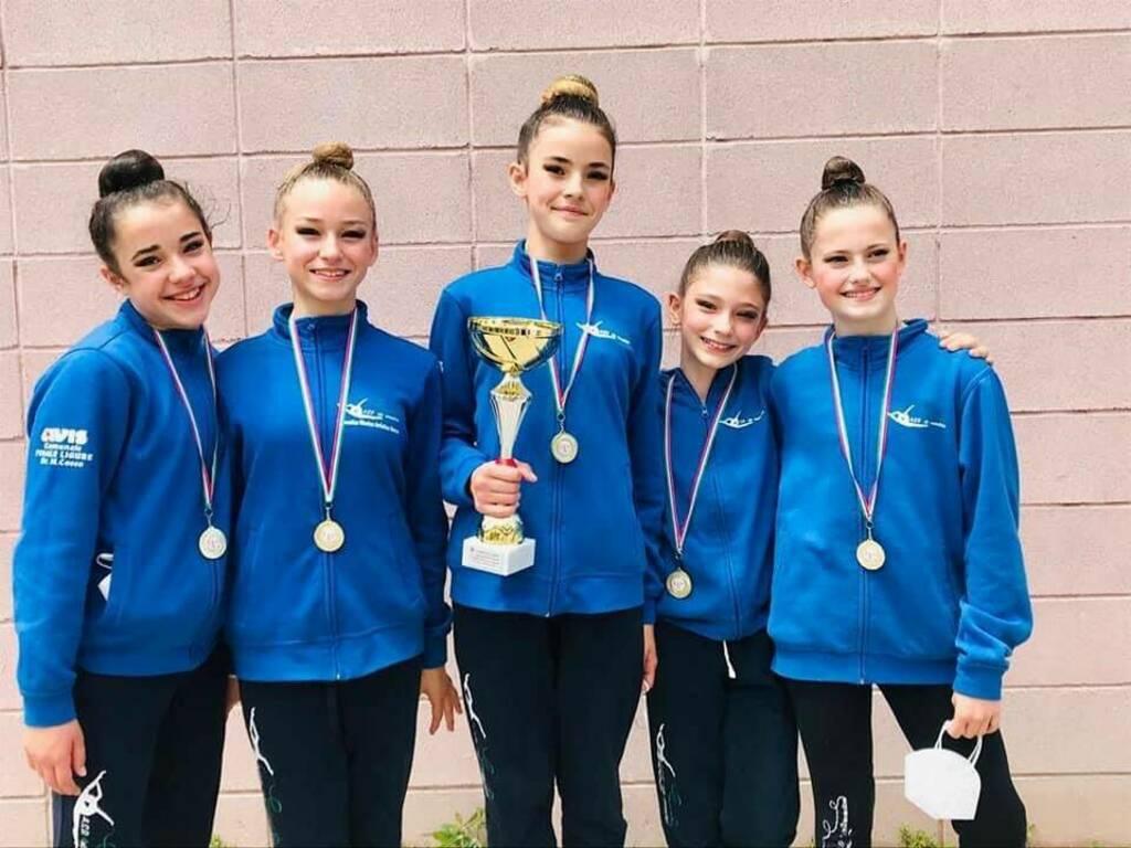 Ritmica: le ginnaste finalesi, sono Campionesse Regionali LA Allieve!!
