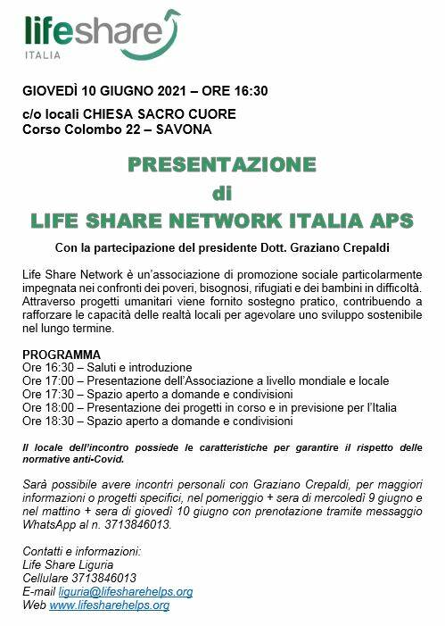 PRESENTAZIONE DI LIFE SHARE NETWORK ITALIA APS
