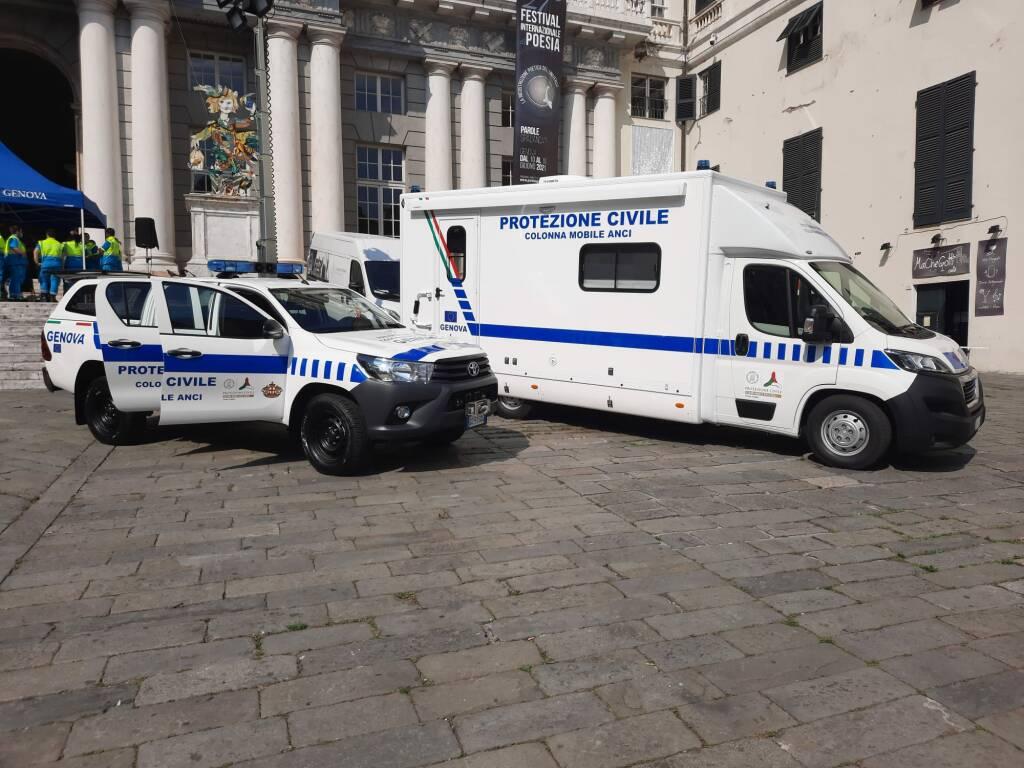 colonna mobile protezione civile comune di genova