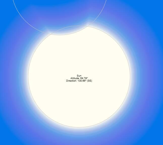 Eclissi solare giugno 2021