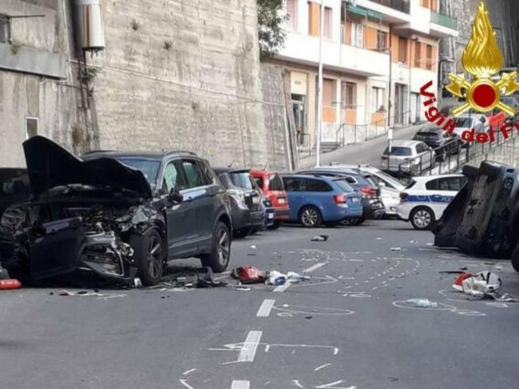 incidente via Bari