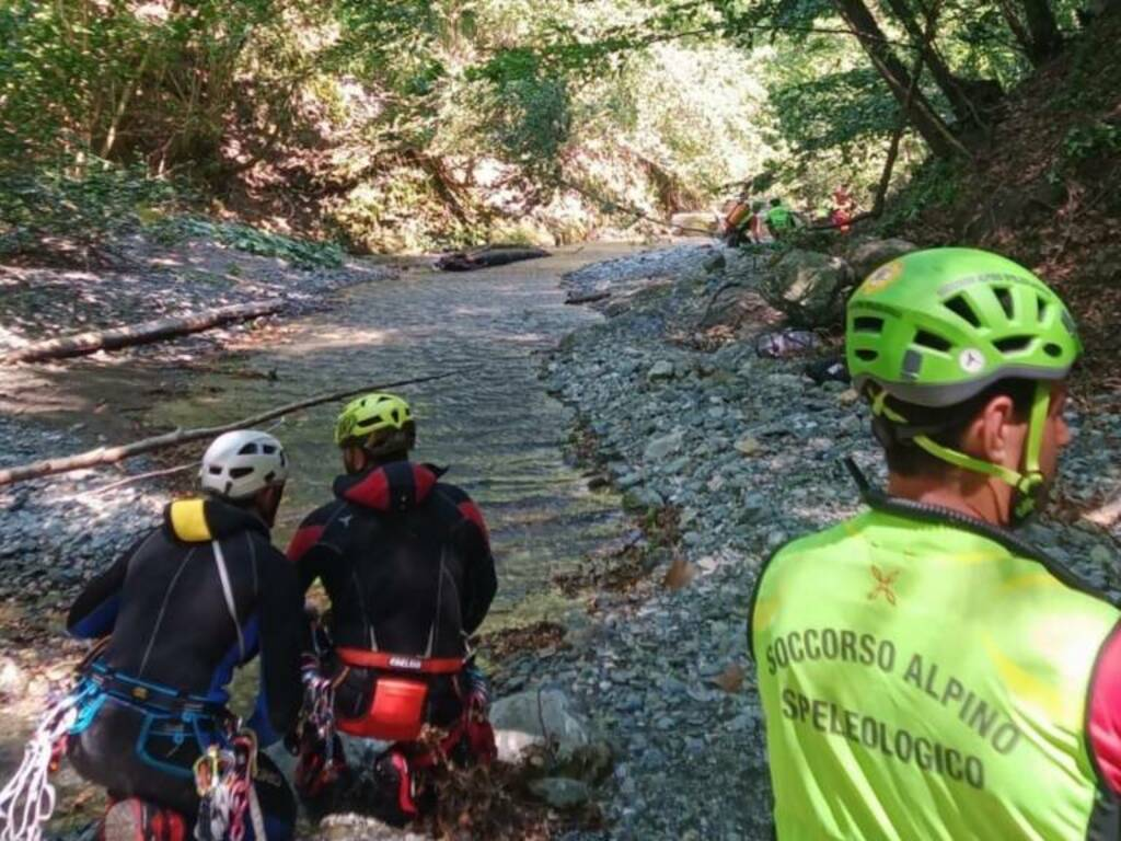 soccorso alpino forra canyoning