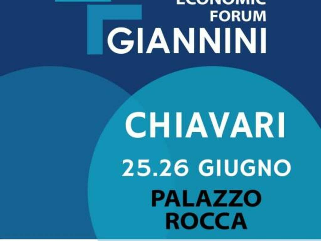 Locandina Economic Forum Giannini