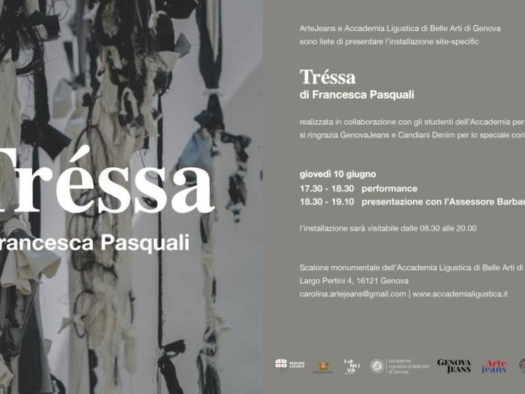 """Genova """"Tréssa"""" installazione artistica Francesca Pasquali"""