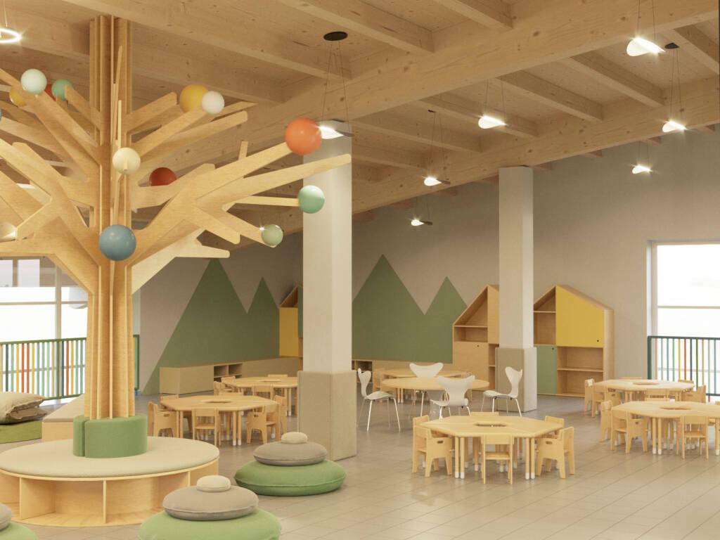 Il progetto della nuova scuola d'infanzia a Millesimo