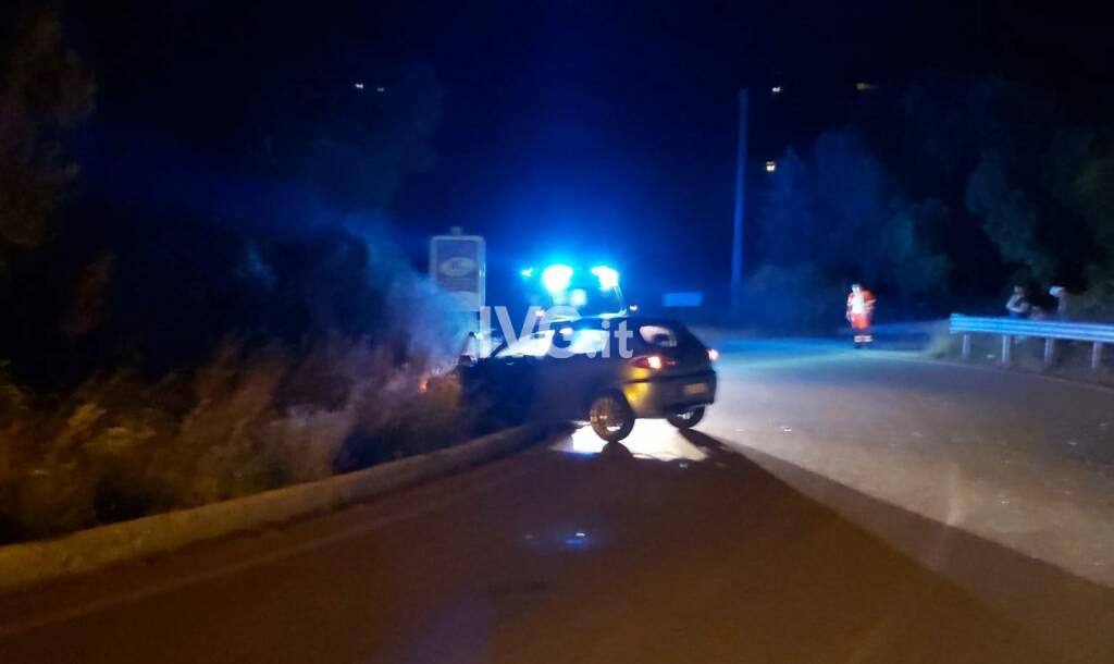 incidente stradale notte