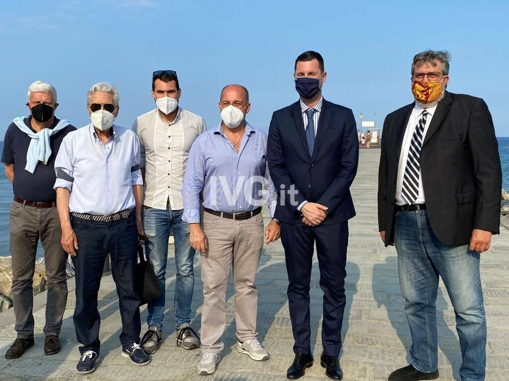 L'assessore regionale alla protezione civile Giampedrone in visita a Laigueglia