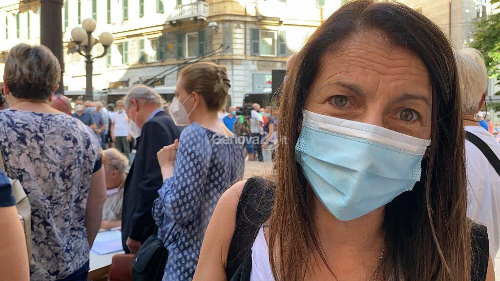 Manifestazione contro la vendita di Autostrade a Genova