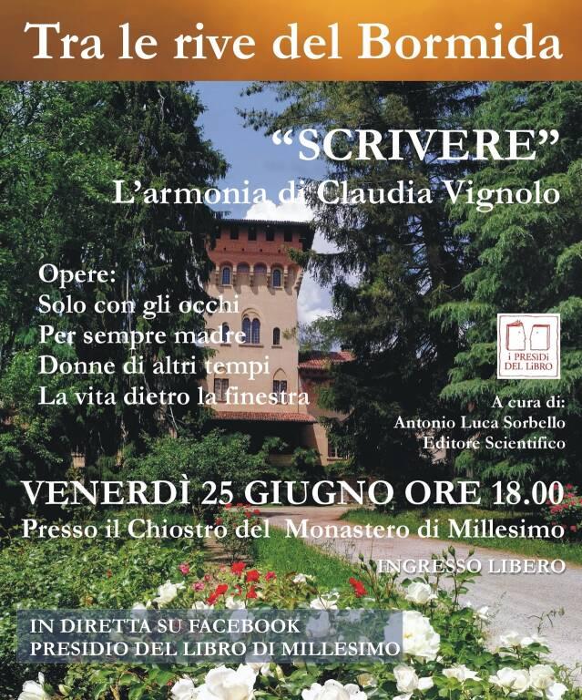 """Millesimo """"Scrivere"""" presentazione libri Claudia Vignolo"""