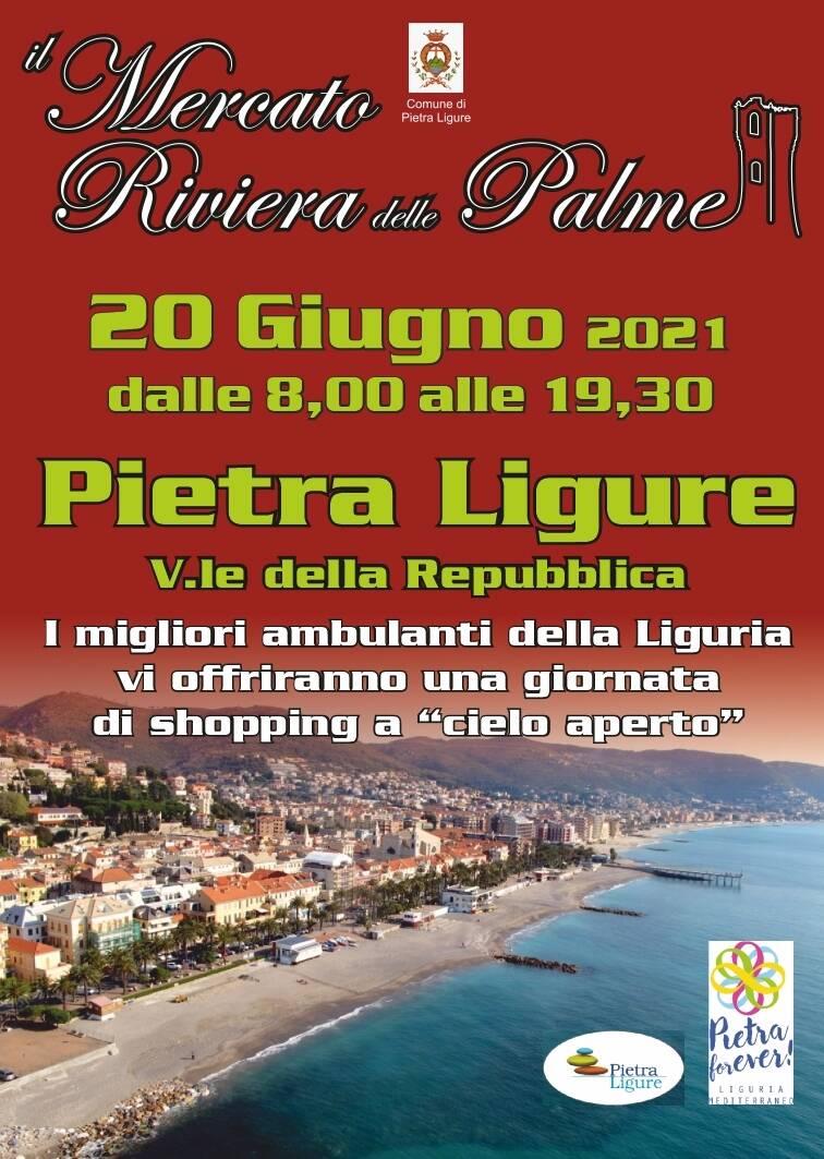 Pietra Ligure Mercato Riviera Palme giugno 2021
