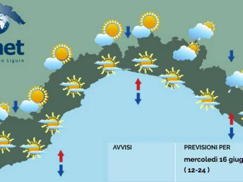 previsioni meteo 16 giugno 2021