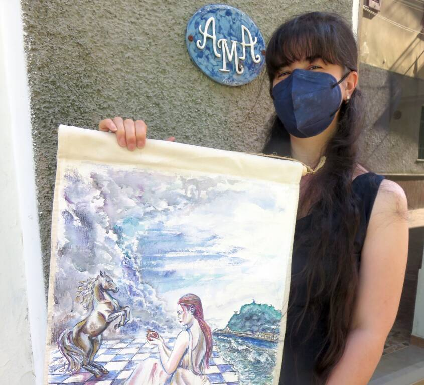 Altare mostra pittura artista valbormidese Laura Di Fonzo