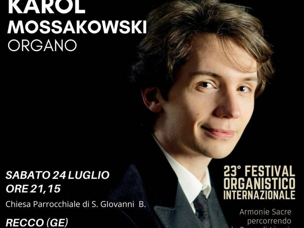 Recco concerto Karol Mossakowski organista polacco