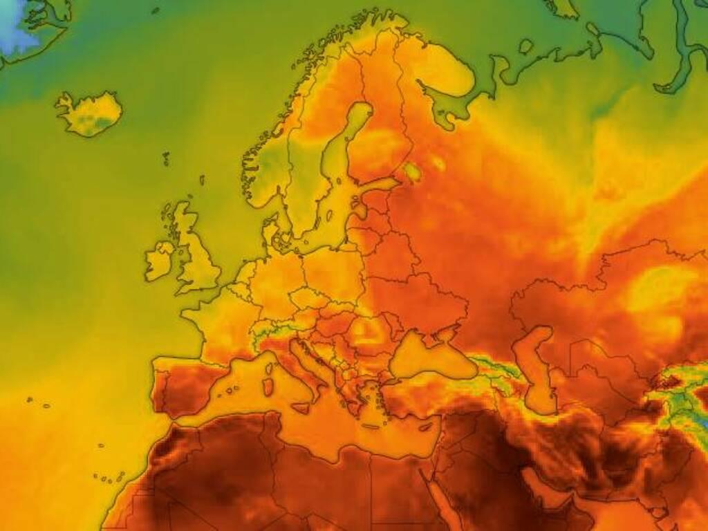 caldo europa lapponia nord emergenza clima