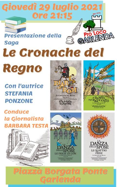 Presentazione della Saga di libri Le Cronache del Regno di Stefania Ponzone
