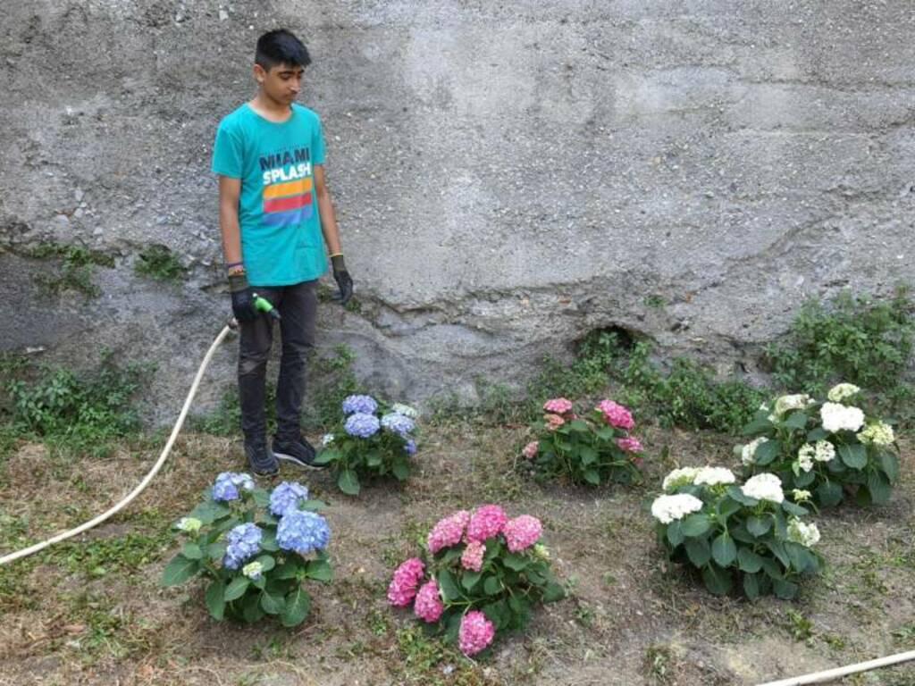 Laboratorio di giardinaggio a Villa Ronco
