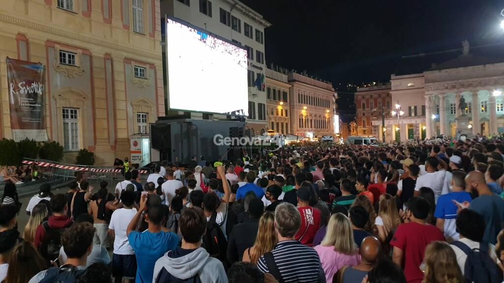 finale euro 2020 maxischermo de ferrari italia inghilterra