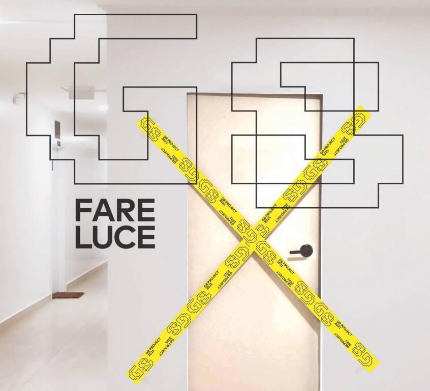 """Genova """"Fare luce"""" installazione artistica su G8 Teatro Ivo Chiesa"""