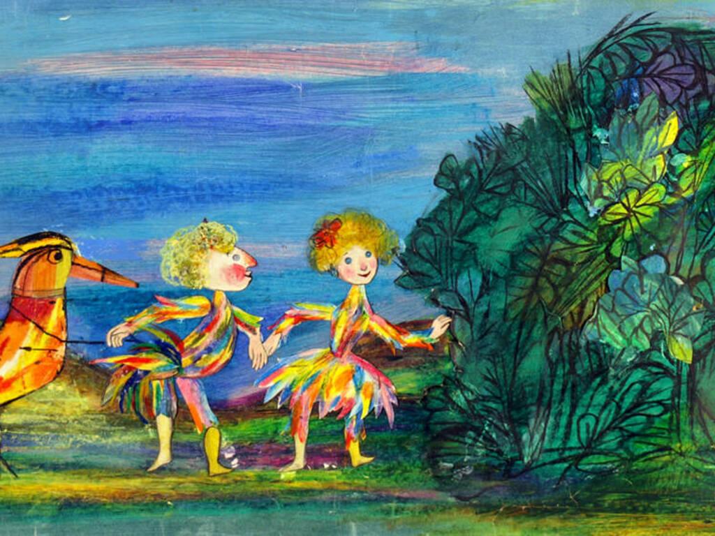 """""""Il flauto magico"""" disegno Emanuele Luzzati"""