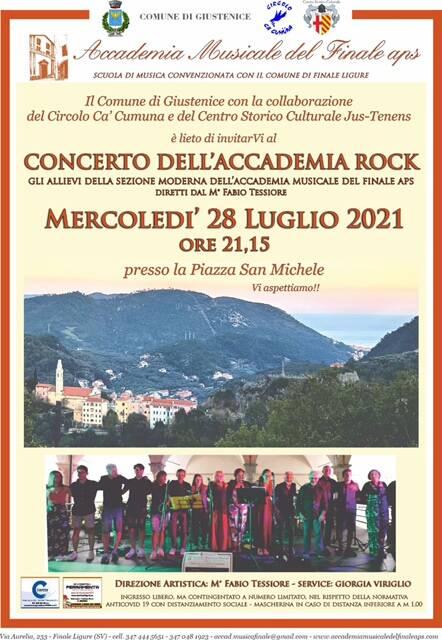 Giustenice concerto Accademia Rock luglio 2021