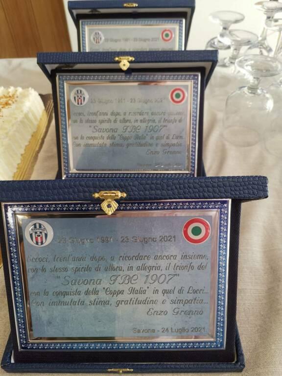 Il Savona celebra trent'anni dalla Coppa Italia