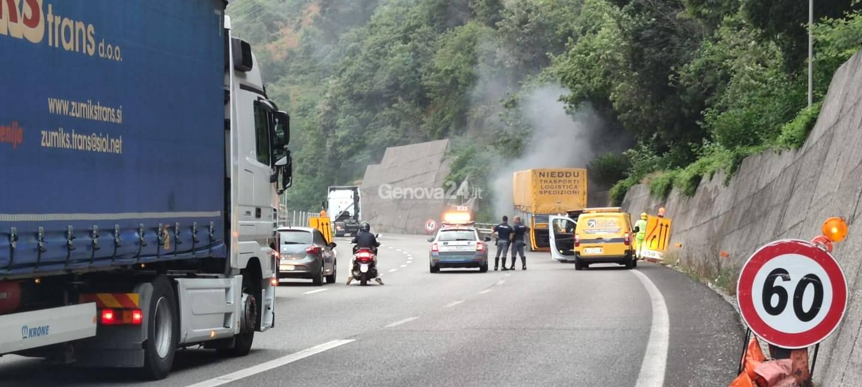 Incendio tir A26