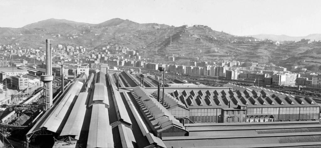 Genova Campi foto storica 1953