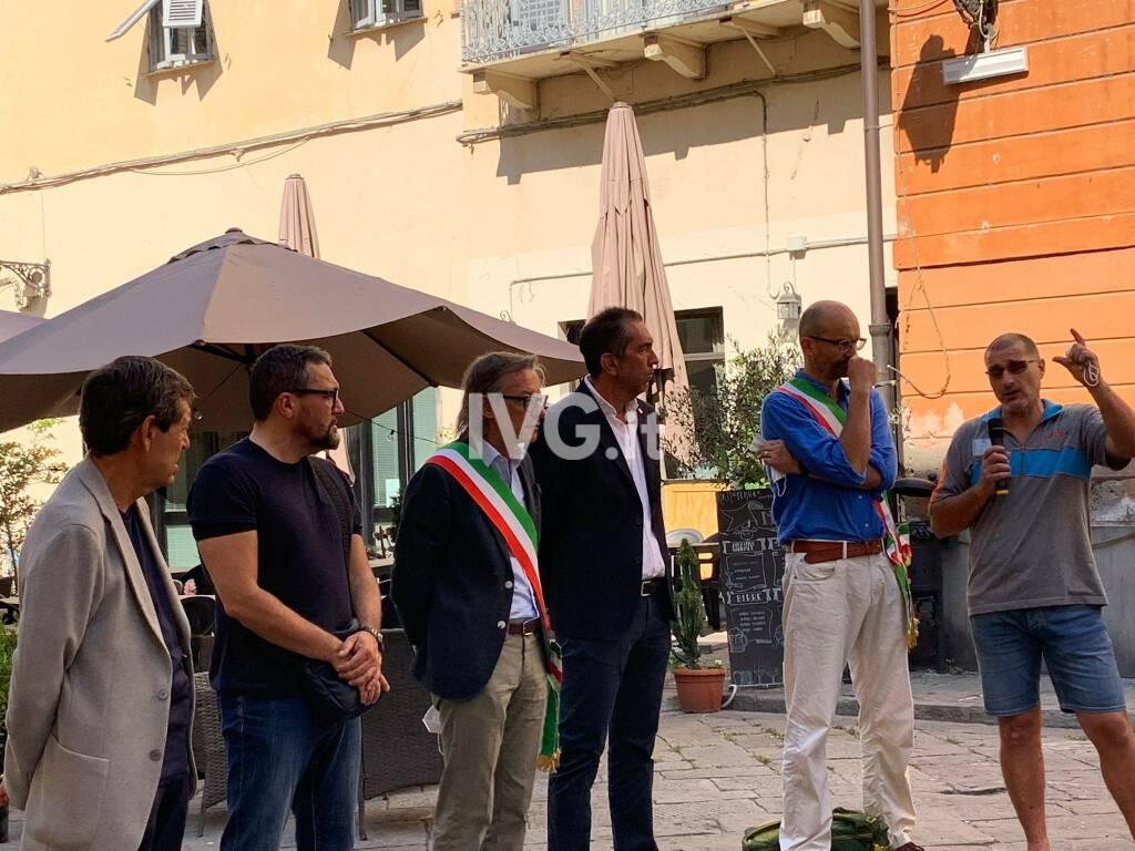 LaerH, lo sciopero ad Albenga