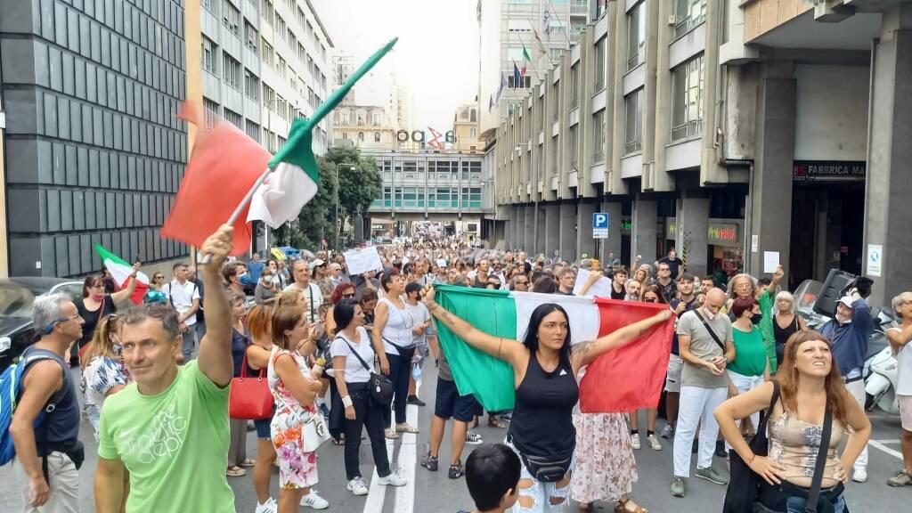 Manifestazione no green pass 24 luglio