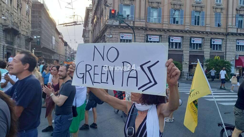 No green pass manifestazione 31 luglio