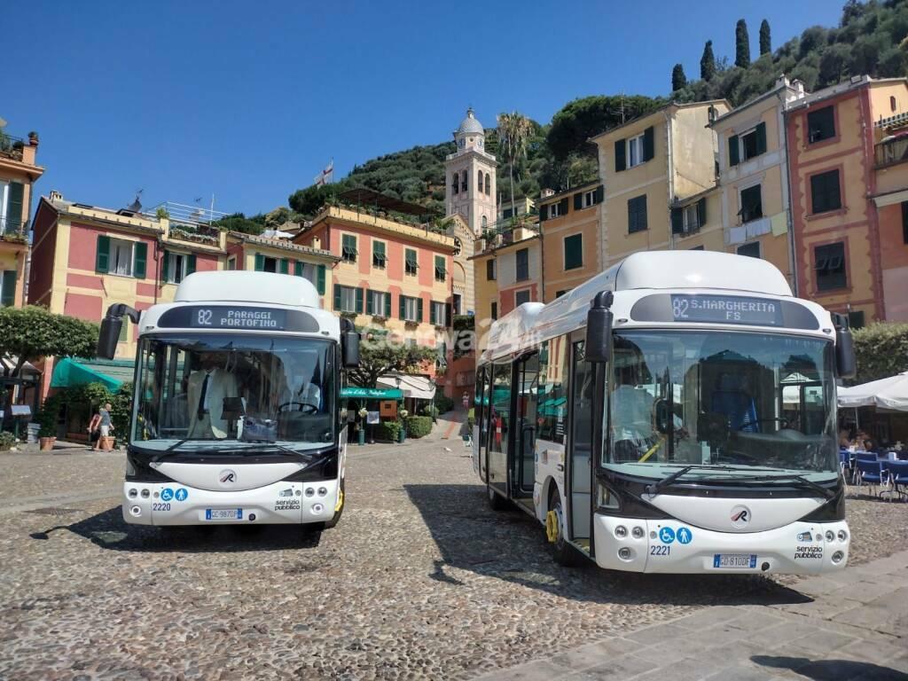 Presentazione bus elettrici a Santa Margherita-Portofino