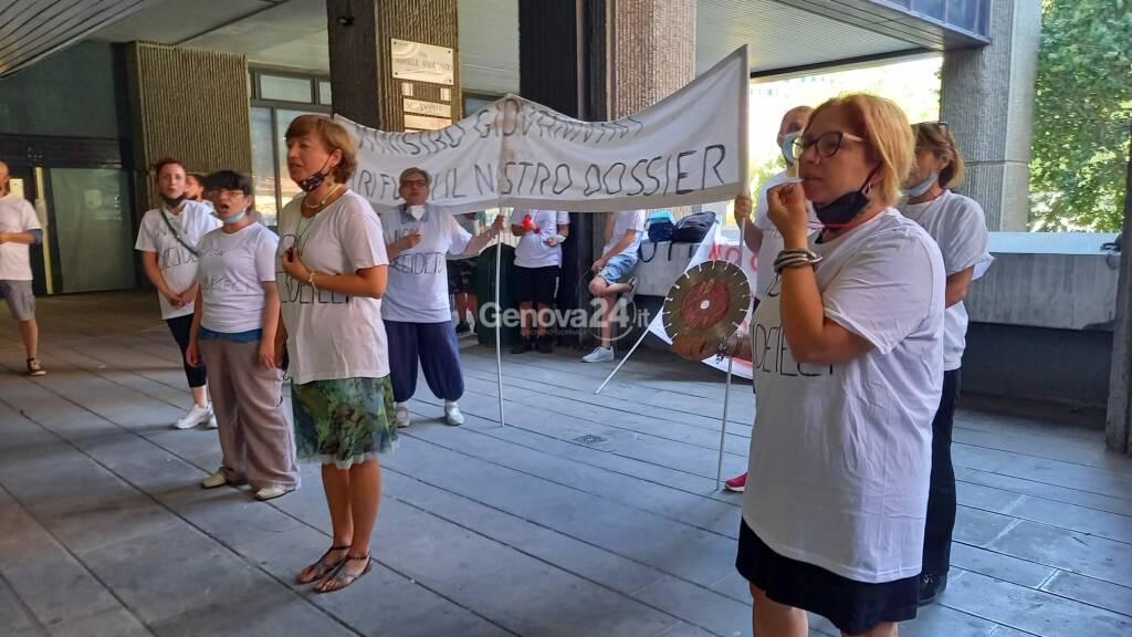 protesta residenti gavette viadotto bisagno