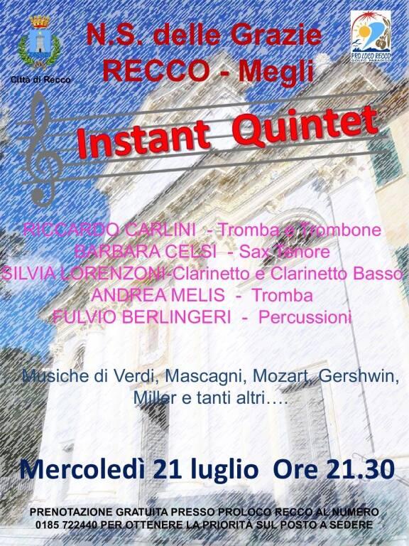 Recco Instant Quintet concerto luglio 2021