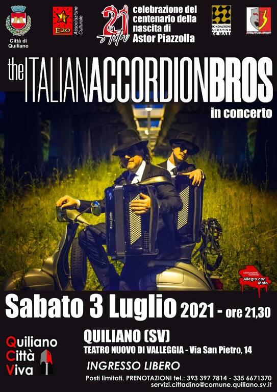 Quiliano The Italian Accordion Bros concerto Teatro Nuovo