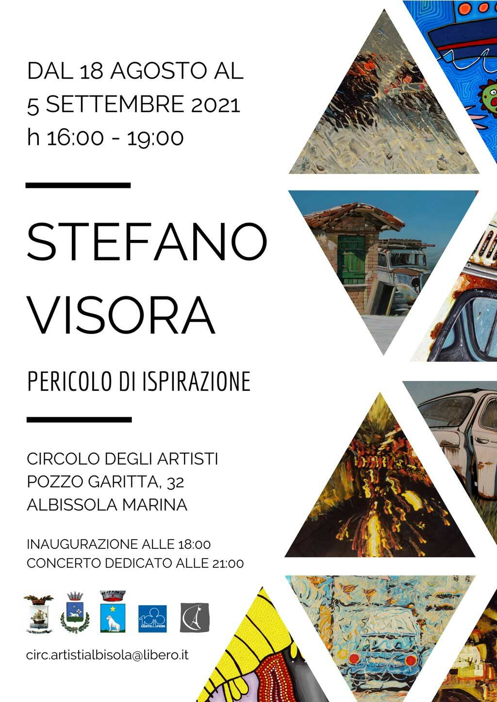"""Albissola Marina """"Pericolo di ispirazione"""" mostra Stefano Visora Circolo degli Artisti"""