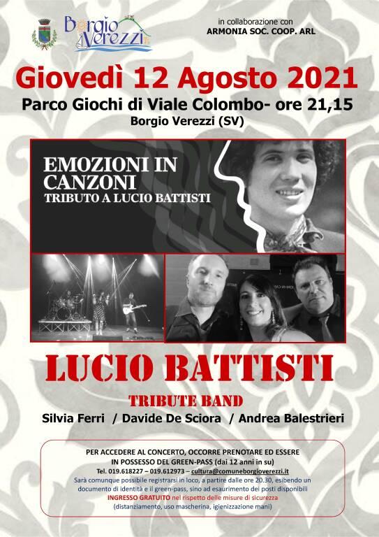 Emozioni in canzoni - Tributo a Lucio Battisti - 12 agosto 2021