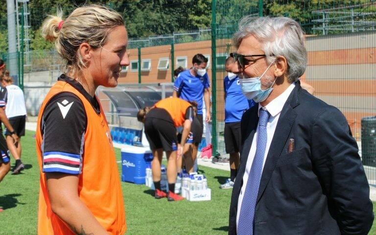 Ferrero fa visita alla Sampdoria Women